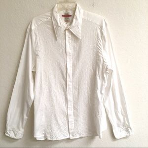 Vintage (miss)Sixty embroidered button up shirt XL